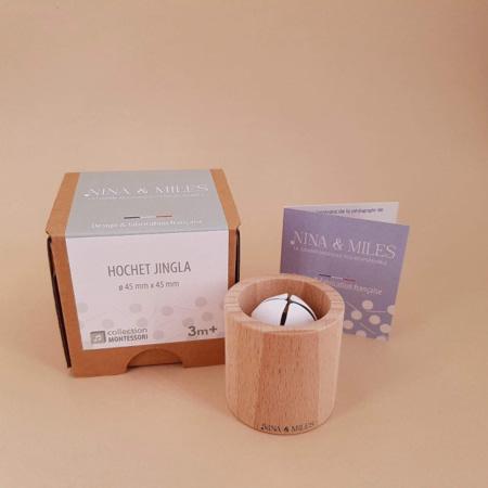 Hochet Jingla en bois Montessori NINA & MILES 2