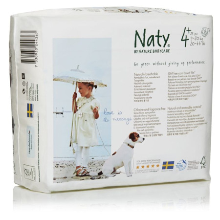 Couches Naty écologiques NATURE BABYCARE 4