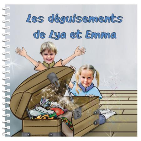 Livre personnalisé pour deux enfants : Je me déguise MON LIVRE PERSONNALISABLE 1