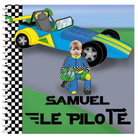 Livre personnalisé pour enfant : Pilote de course MON LIVRE PERSONNALISABLE 1