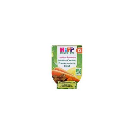 Poêlée de carottes pomme de terre boeuf 220 g dès 12 mois HIPP 1