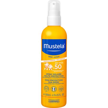 Spray solaire très haute protection MUSTELA 1