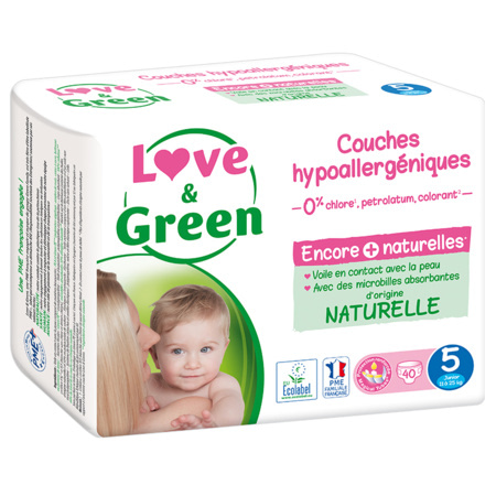 Couches Hypoallergéniques LOVE AND GREEN 2