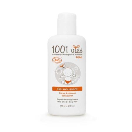 Gel moussant Bio Bébé Corps et Cheveux 200 ml 1001 VIES 1