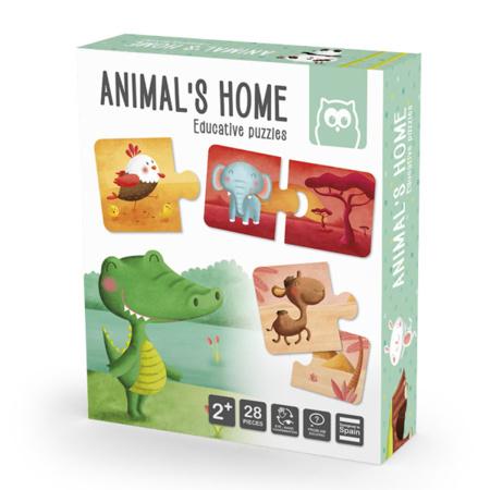 Puzzle Montessori - Animal's Home EUREKAKIDS 1