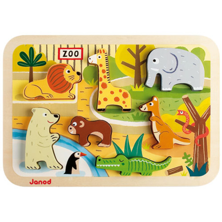 Puzzle encastrement Chunky Zoo JANOD 2