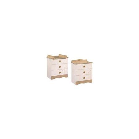 Commode 3 tiroirs avec dispositif a langer amovible esprit nature 1