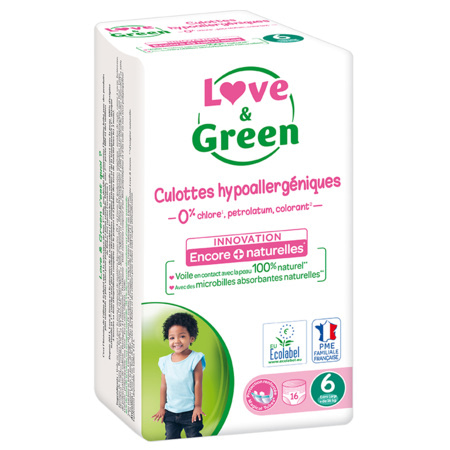 Culottes d'apprentissage écologiques LOVE AND GREEN 3