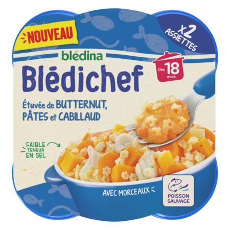 BLEDICHEF Etuvée de butternut, pâtes et cabillaud 1