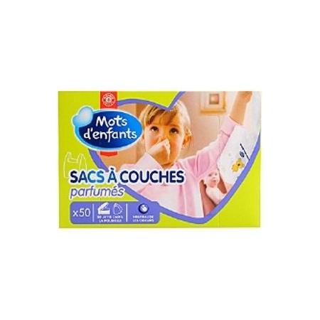 Sacs à couches parfumés (x50) MOTS D'ENFANTS 1
