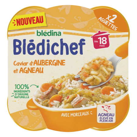 BLEDICHEF Caviar d'aubergine et agneau BLEDINA 1
