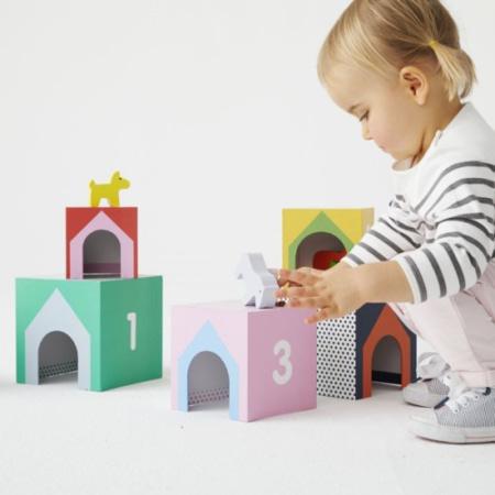 Cubes imagiers empilables et animaux en bois - Manibul OXYBUL 2