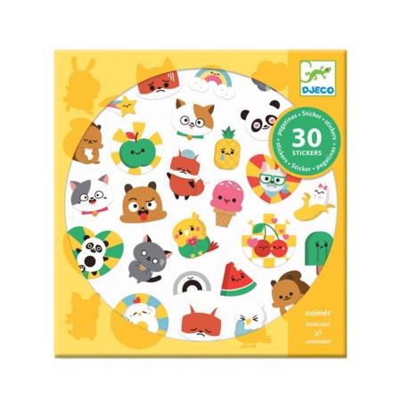 Pochette 30 stickers lenticulaires DJECO 1