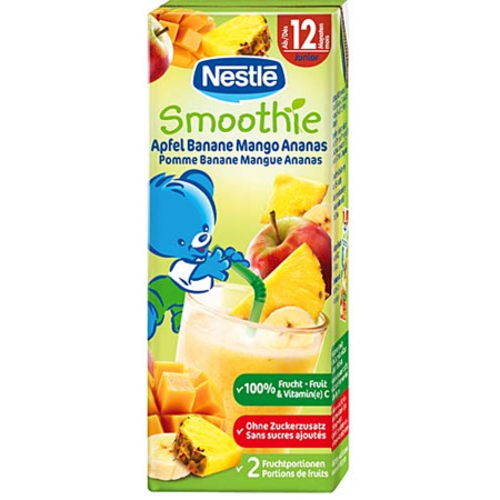 P'tits fruits : Smoothie pommes bananes mangues ananas 1