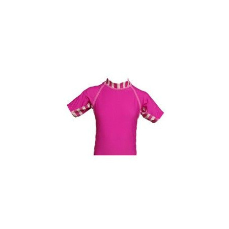 T-Shirt Protection UVA+UVB Filles - 3 ans - Rose moyen PETITE SOURCE 1