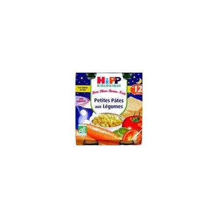 Menu Bonne Nuit Petites Pâtes aux Légumes - 2 pots x 250g - 12 mois 1