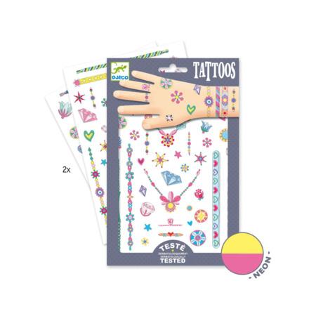2 planches de tattoos Les bijoux de Jenni  1
