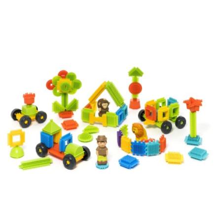 82 blocks à construire et 3 figurines jungle - Buildibul OXYBUL 2