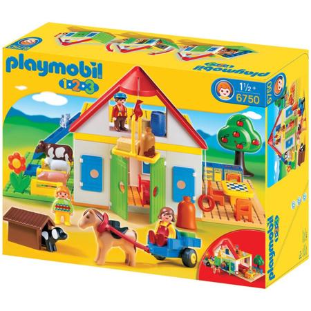 Playmobil 1.2.3 - Coffret Grande ferme PLAYMOBIL 1