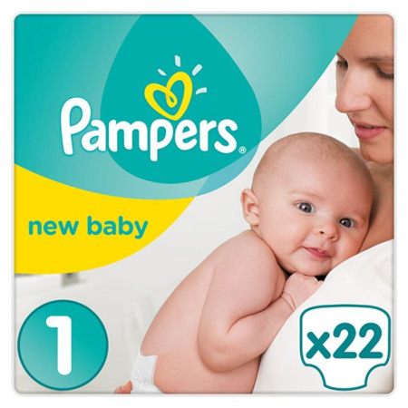 Couches New Baby PAMPERS 1