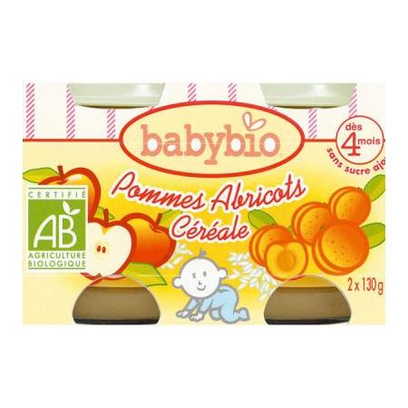 BIO Pommes Abricots Céréale dès 4 mois BABYBIO 1