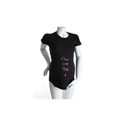 T-Shirt manches courtes 'c'est une fille'  KELMOI 1