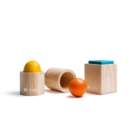 Ensemble de 3 matériels d'emboîtement Montessori NATURE & DECOUVERTES 1