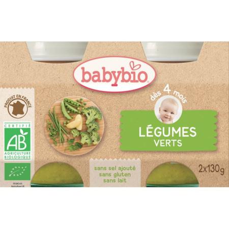 BIO Légumes verts 130 g dès 4 mois BABYBIO 1