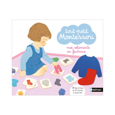 Coffret Tout-petit Montessori mes vêtements en feutrine NATHAN 1