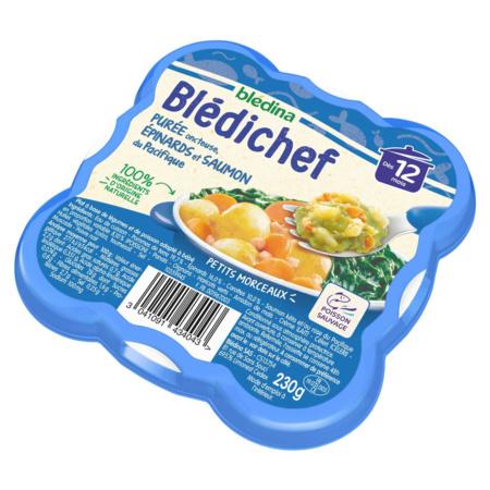 BLEDICHEF Purée onctueuse, épinards et saumon du Pacifique  BLEDINA 3