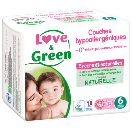 Couches Hypoallergéniques LOVE AND GREEN 1