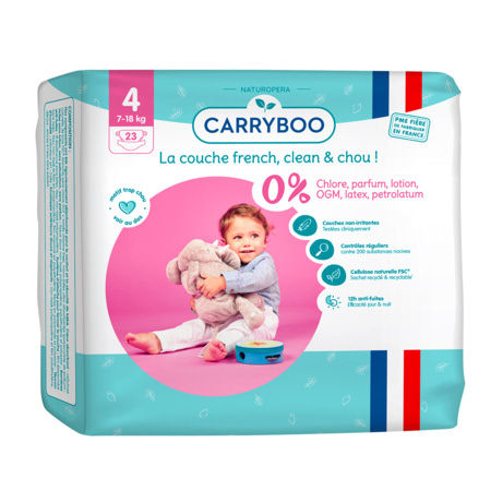 Couches écologiques dermo-sensitives CARRYBOO 6