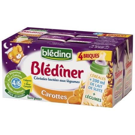 Blédîner - Briques Lait Carottes BLEDINA 1
