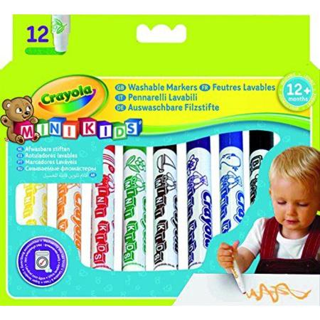 12 feutres lavables Mini Kids CRAYOLA 1