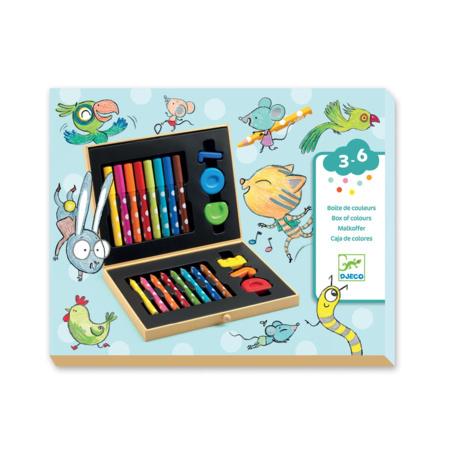 Boîte de feutres de couleurs pour les petits                 DJECO 1