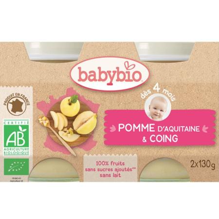 BIO Pommes Coings dès 4 mois BABYBIO 1