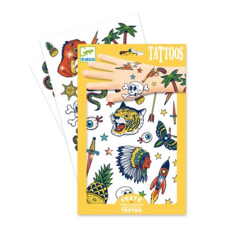2 planches de tattoos cowboys et indiens  1