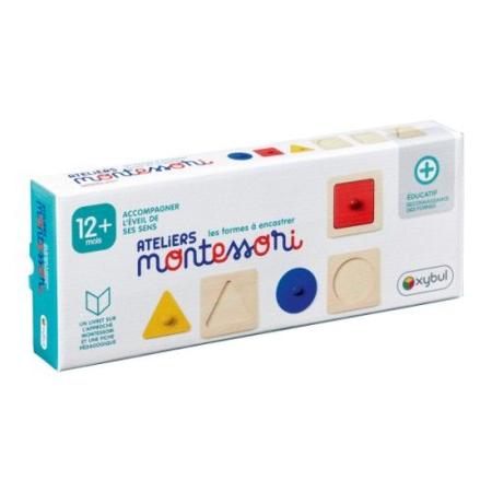 Trio de puzzles à encastrer Ateliers Montessori OXYBUL 1