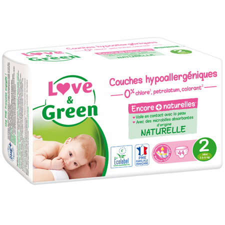 Couches Hypoallergéniques LOVE AND GREEN 6