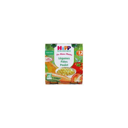 Légumes pâtes poulet - 2 pots x 250g - 12 mois HIPP 1
