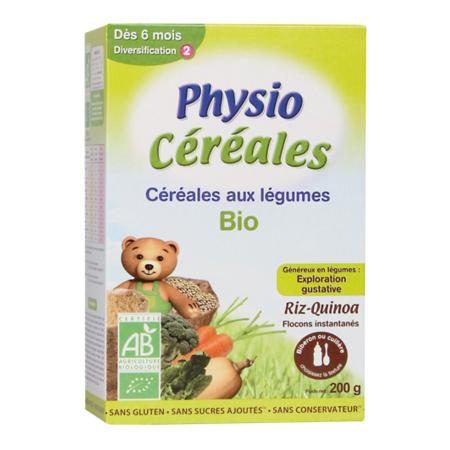 Physio Céréales Bio Légumes 200g PHYSIOLAC 1