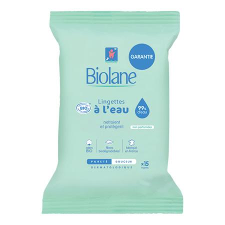 Lingettes pocket Bio BIOLANE 1