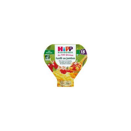 Fusilli au jambon 260 g dès 18 mois HIPP 1