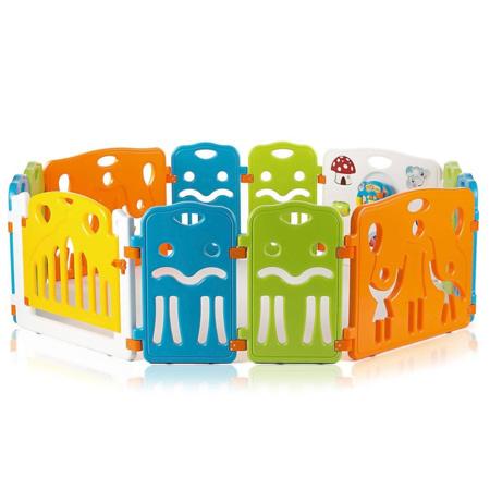 Parc avec porte en plastique COLORS XL BABY VIVO 2