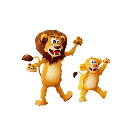 Stickers Lion et lionceau IDZIF 1