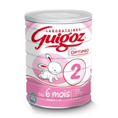 Lait 2ème âge Optipro dès 6 mois GUIGOZ 1