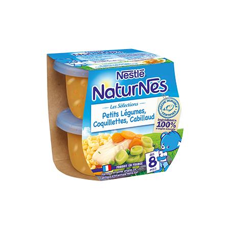 Naturnes - Petits légumes, coquillettes et Cabillaud NESTLÉ 1