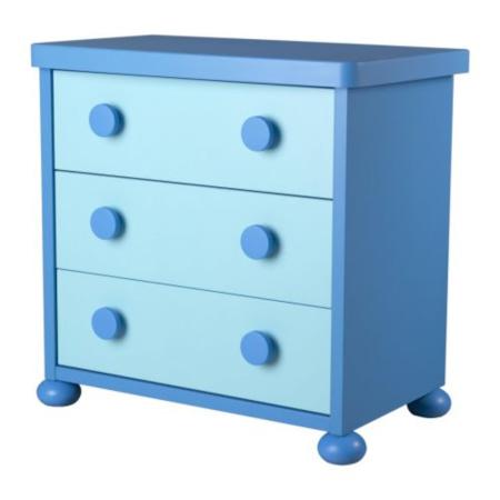 Commode 3 tiroirs Mammut IKEA 1