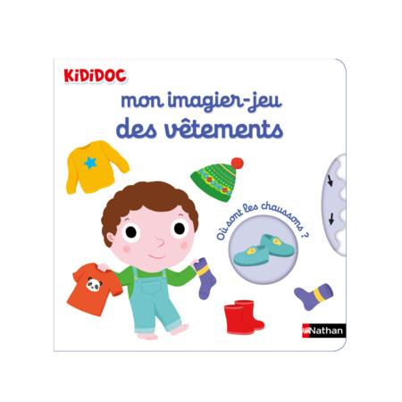 Livre Mon imagier Jeu des vêtements - Kididoc NATHAN 1
