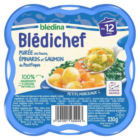 BLEDICHEF Purée onctueuse, épinards et saumon du Pacifique  BLEDINA 1